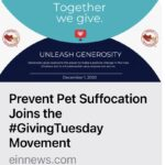 Press Release - Prevent Pet Suffocation Joins the #GivingTuesday Movement!